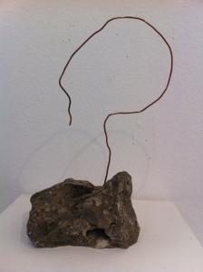 ניר ברנד, דיוקן, חוט נחושת וסלע מקומי, 2012
