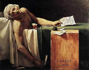 ז׳אק לואי דויד, מות מארה, 1793