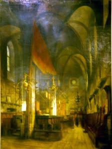 האלטנוי שול, בית הכנסת המפורסם בפראג כפי שמוצג במוזיאון היכל שלמה