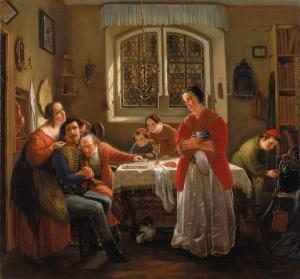 מוריץ דניאל אופנהיים, שובו של המתנדב היהודי, 1833